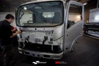 Isuzu Truck Printed commercial branding wrap