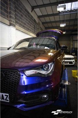 Audi A1 Gloss Roaring Thunder wrap