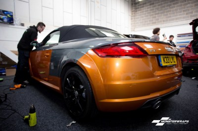 Audi TT mk3 3M Gloss liquid copper wrap