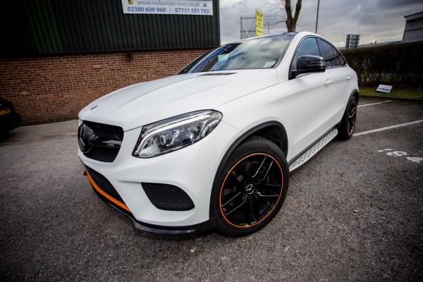 Mercedes GLE43 3M Matte White wrap