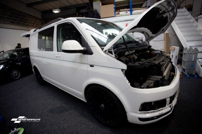 VW T6 Two tone white grey wrap