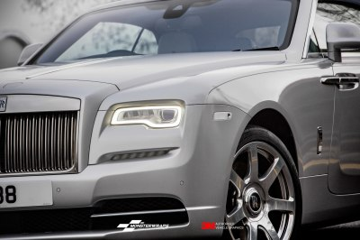 Rolls Royce Dawn Gloss White Aluminium wrap