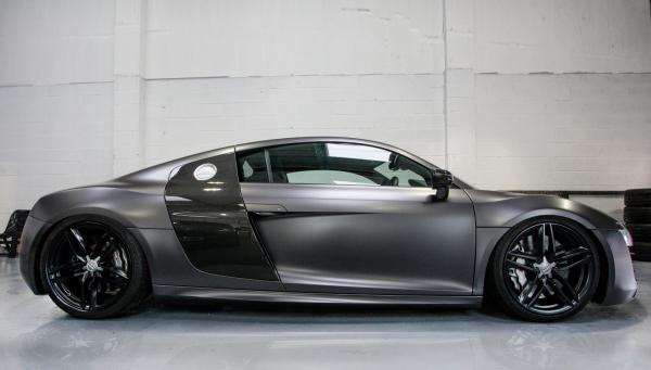 Audi R8 V10 Satin Dark Grey wrap