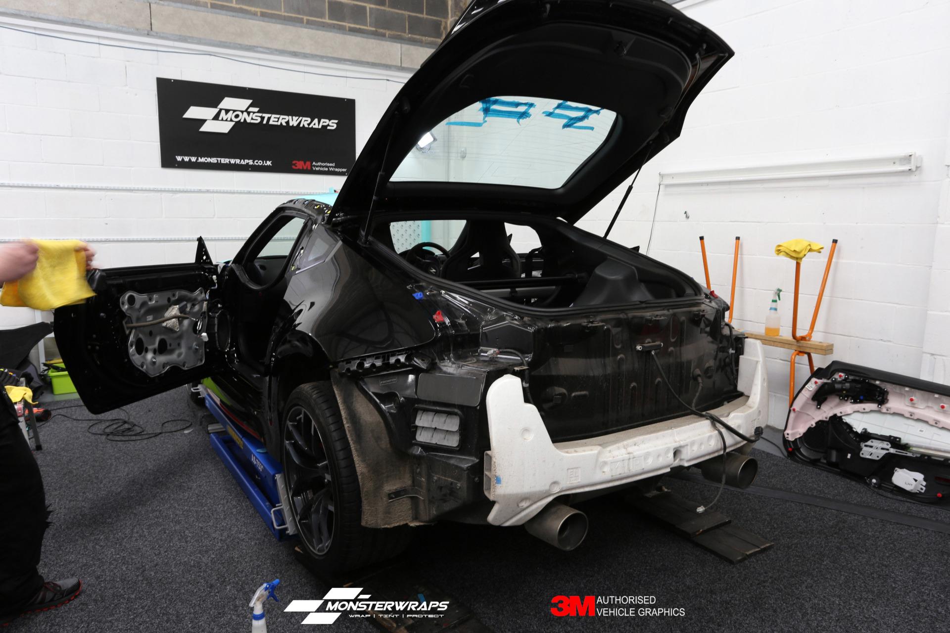 Nissan 370Z Nismo wrapped in 3M Satin Key West