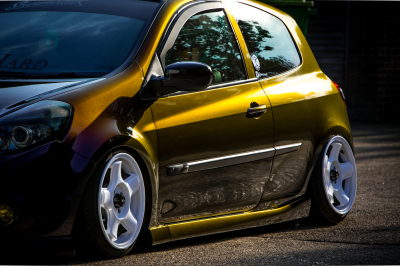 Renault Clio 3M Gloss Deep Space wrap