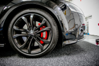 Gloss red painted calipers monsterwraps southampton