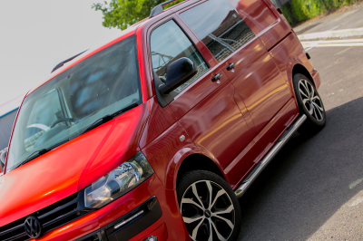 VW T5 Transporter 3M Dragon Fire Red wrap