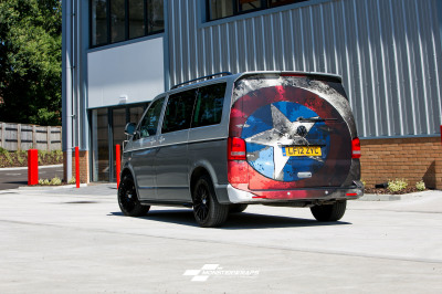 VW T5 transporter two tone half and half wrap