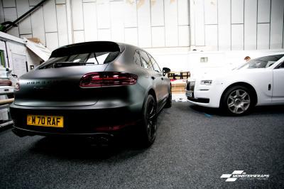 Porsche Macan S Matte Black wrap