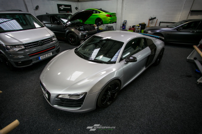 3M car wrap southampton monsterwraps Audi R8 wrapped