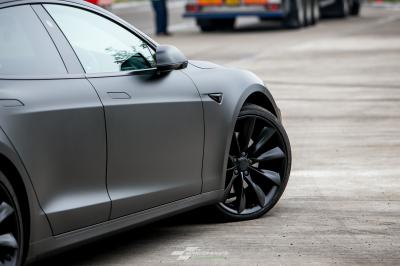 Tesla Model S P100D Matte Metallic Black wrap