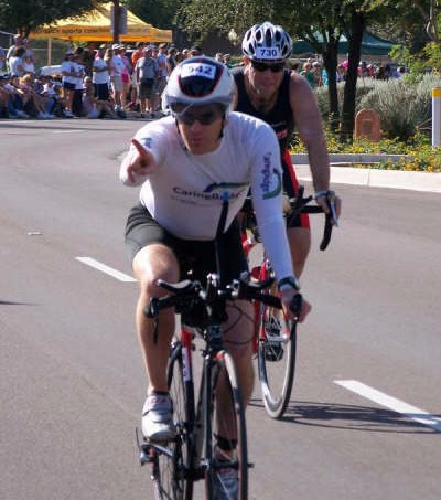 Ray cruising the bike at IMAZ