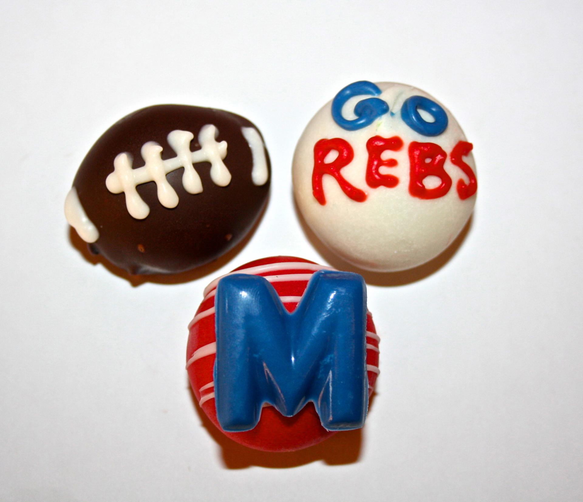 college sport cake pops