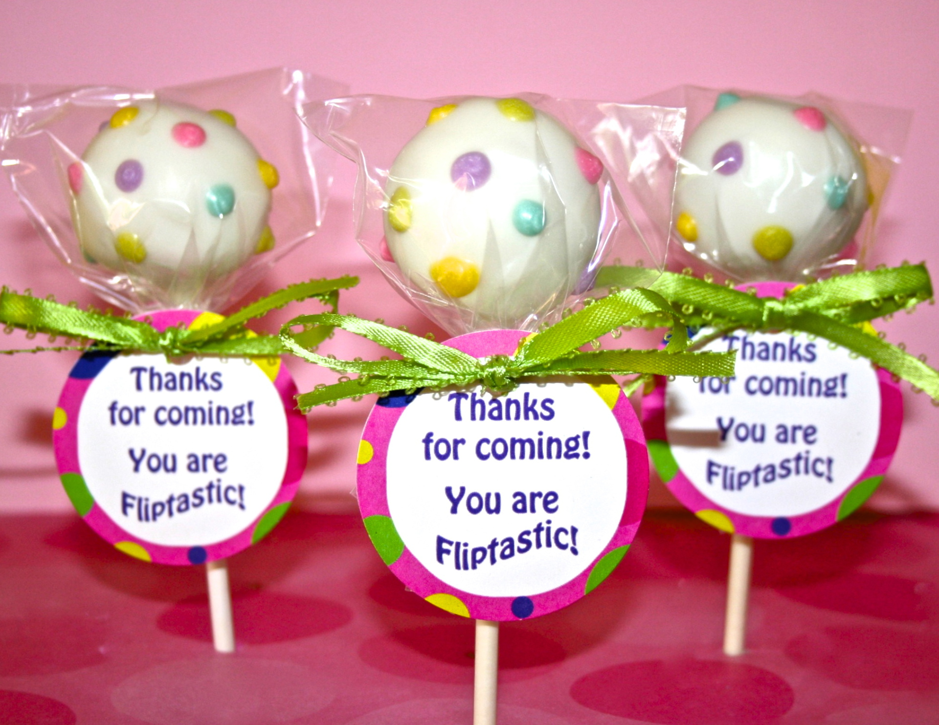 party favor cake pops