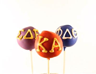 fraternity cake pops