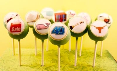 monogram cake pops