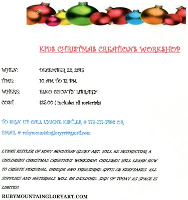 KIDS CHRISTMAS CREATIONS WORKSHOP