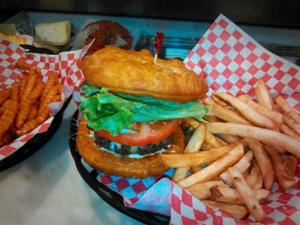 Fry bread Burger