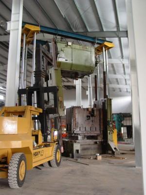 Stacking a 800-ton Stamping Press.
