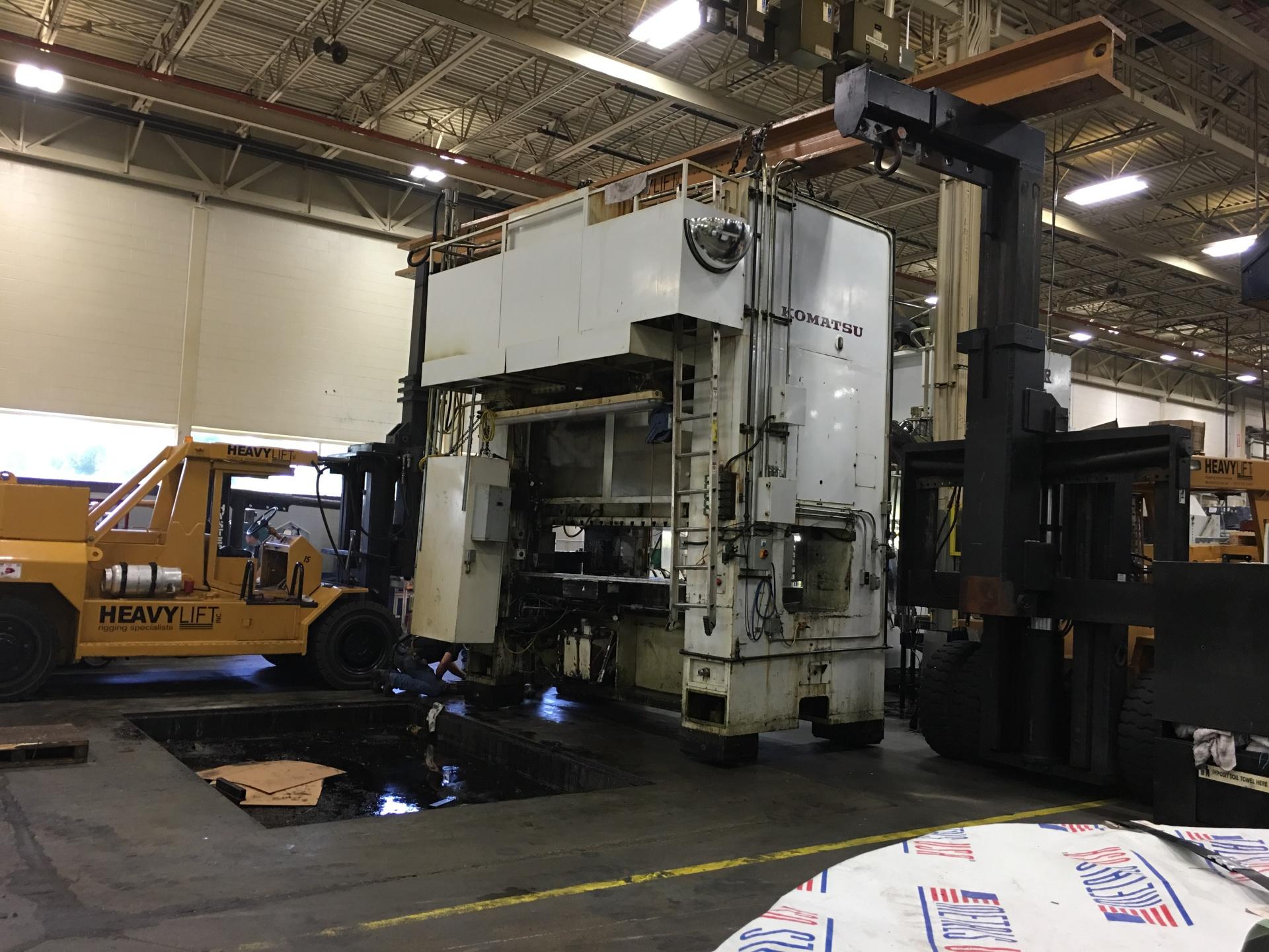 Relocating a 300-ton Komatsu Press within plant.