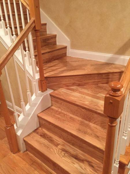 Red Oak Wood Stairs