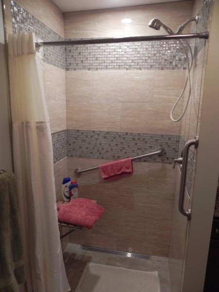 Custom handicap shower