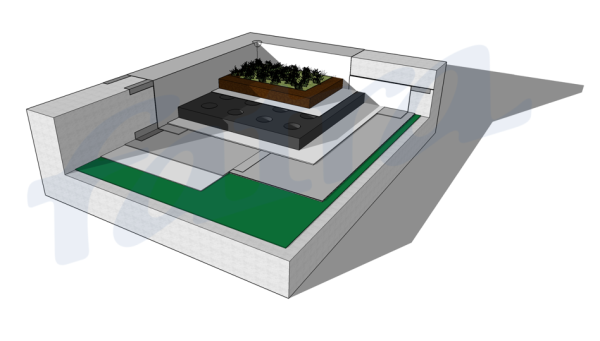 Fatra PVC Membrane Green Roof Planter Box Waterproofing System
