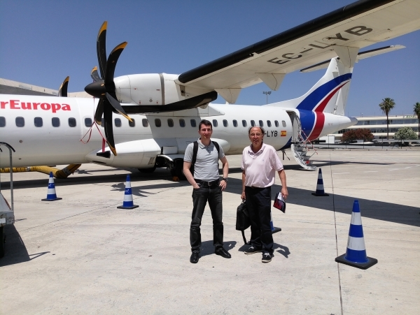 Jumping from Mallorca to Menorca
