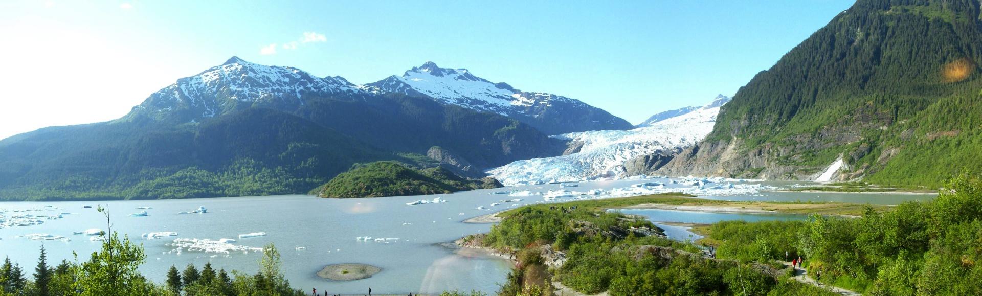 ocean, glacier, mountain, alaska