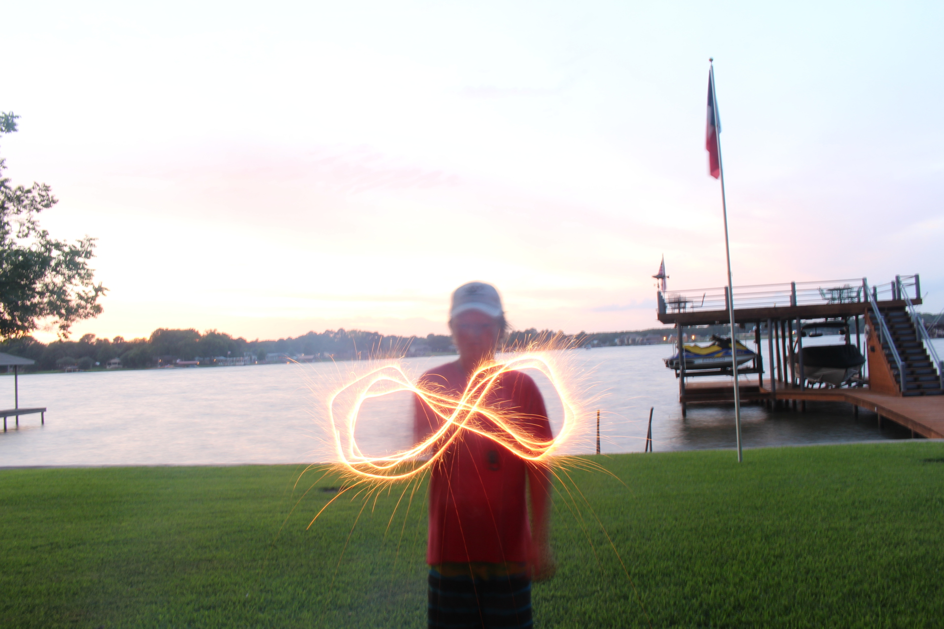 infinity, sparklers, action, exposure