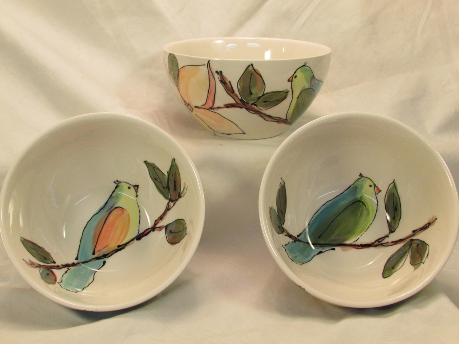 Birds & Magnolias Cereal Bowls