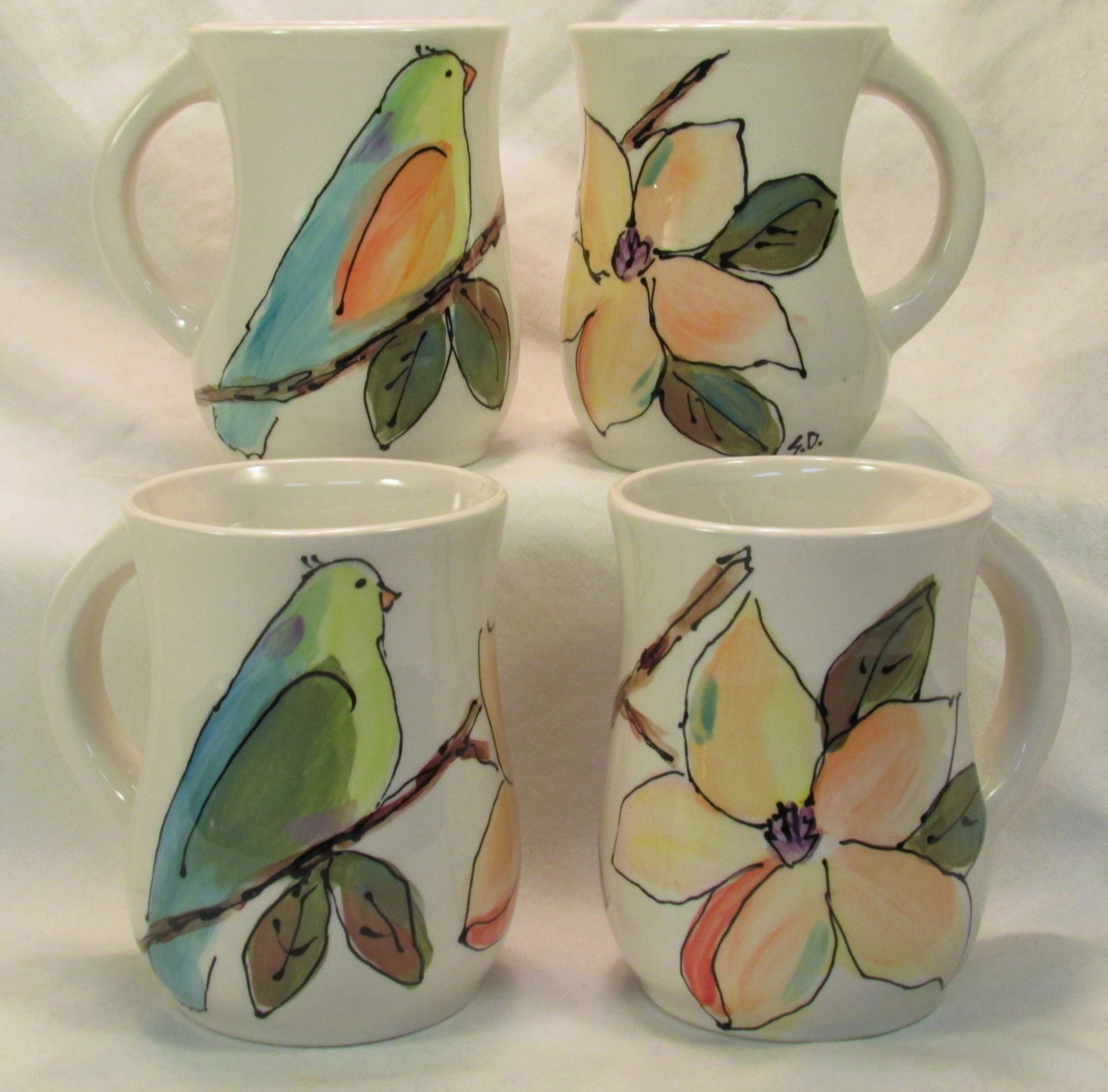 Birds & Magnolias Mugs