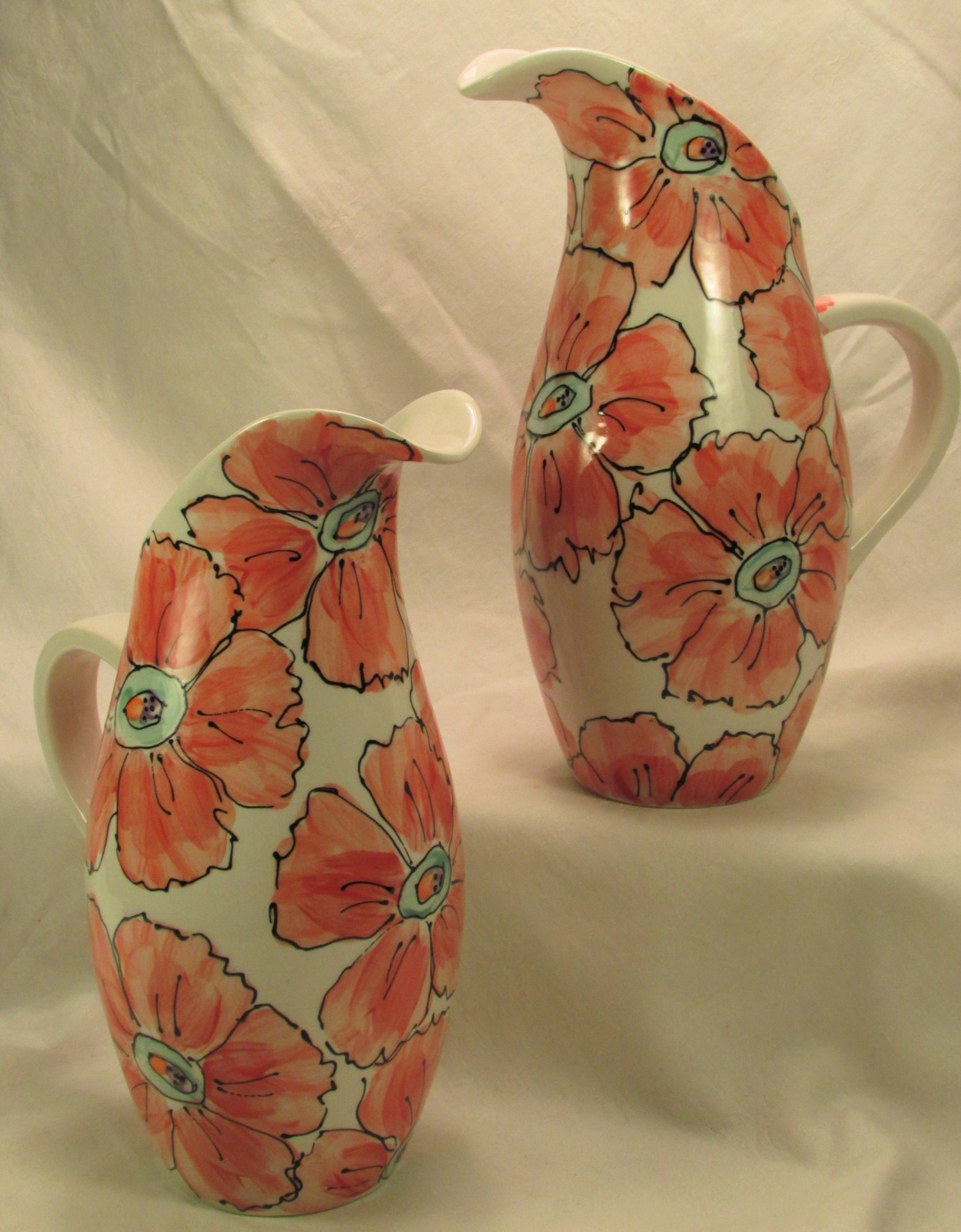 Poppies Naples Pitcher