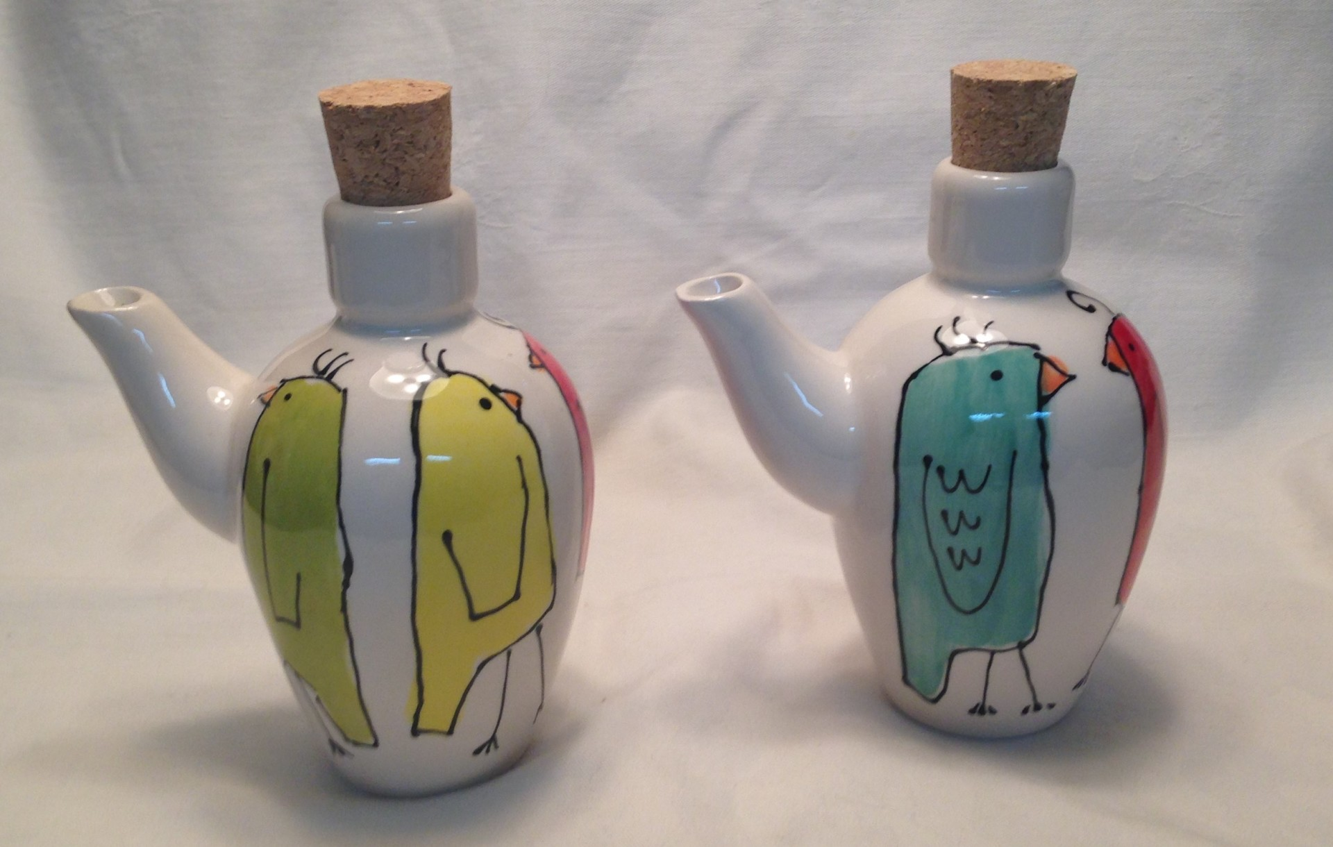 Happy Birds Tuscan Oil Bottle