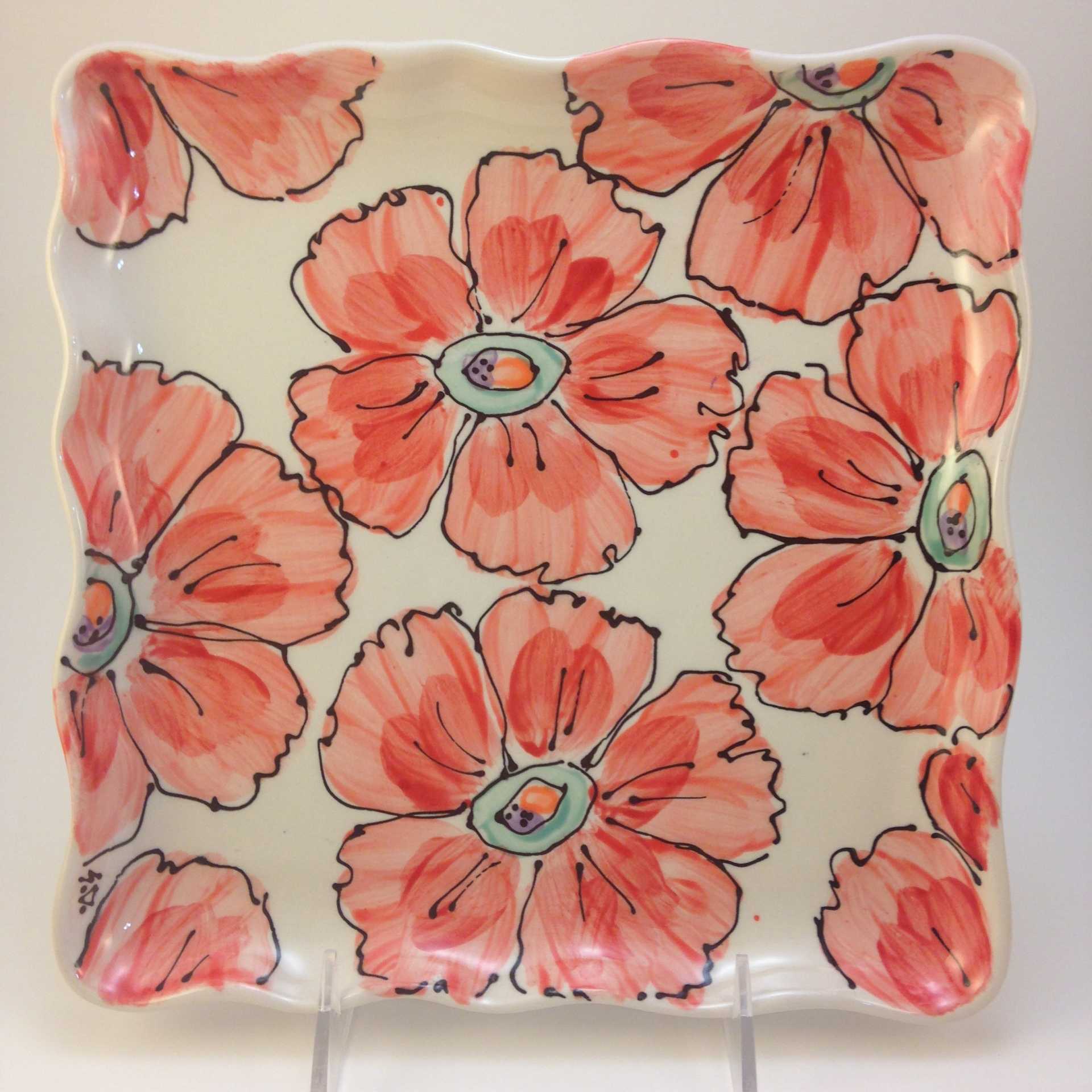 Poppies Square Plate