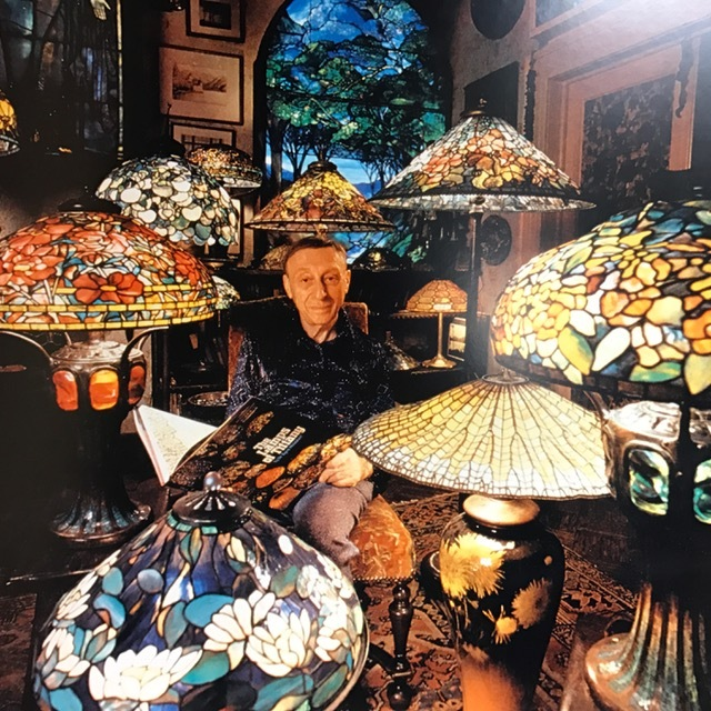 Dr. Egon Neustadt with his Tiffany Lamps
