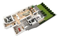 3D floor plan example