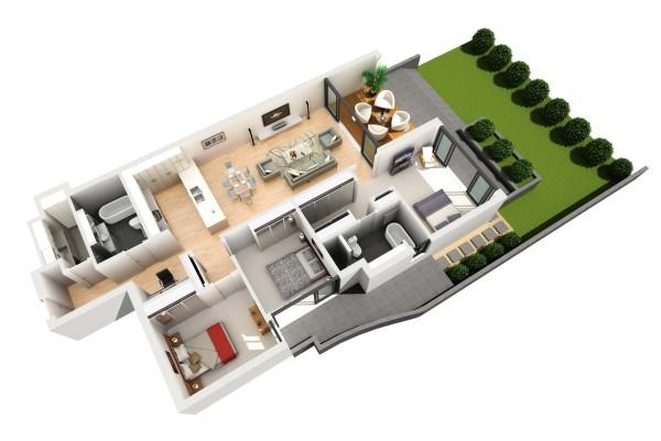 3D Flat Example Plan