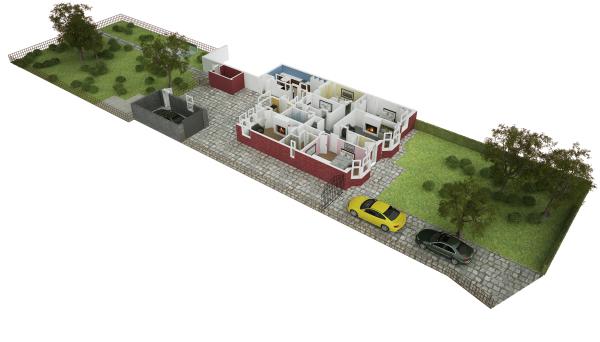 3D Example Floor Plan