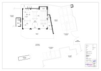 Commercial floor plan of car garage