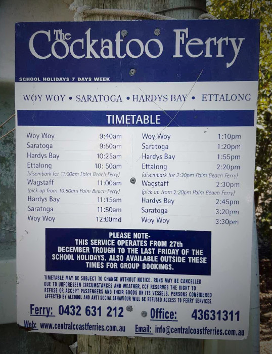 The Cockatoo Ferry