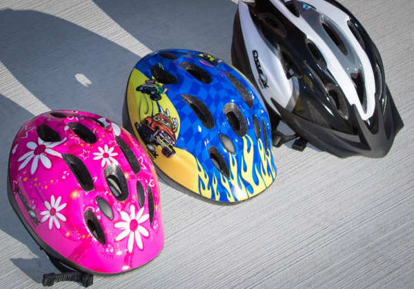 Helmets supplied for Adults and Kids