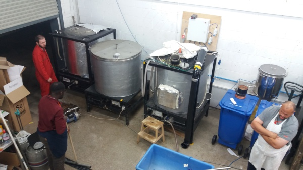 Brewery on a brew day