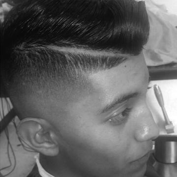 Comb over & razor fade