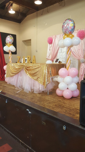 Stage for birthday party
