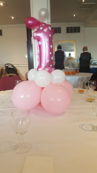 1st birthday party!!! centrepieces!!