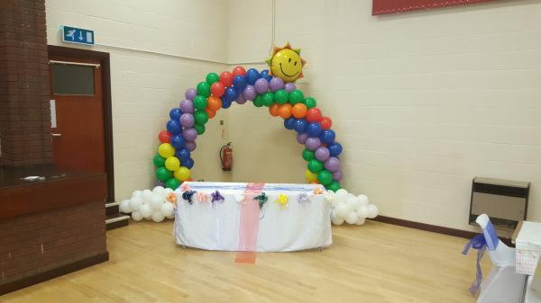 Rainbow Party!!! Balloon Arch!!