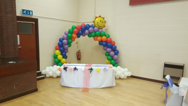 Rainbow Party!!! Balloon Arch!!