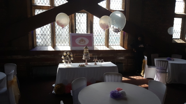 Stuffed Balloons, Confetti filled balloons and Cake Table!!