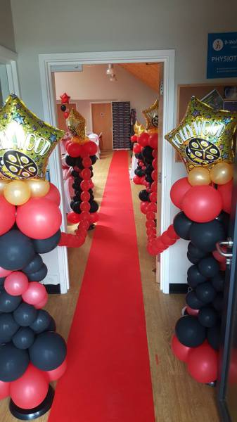 Hollywood Theme Party!! Red carpet Entrance!!!